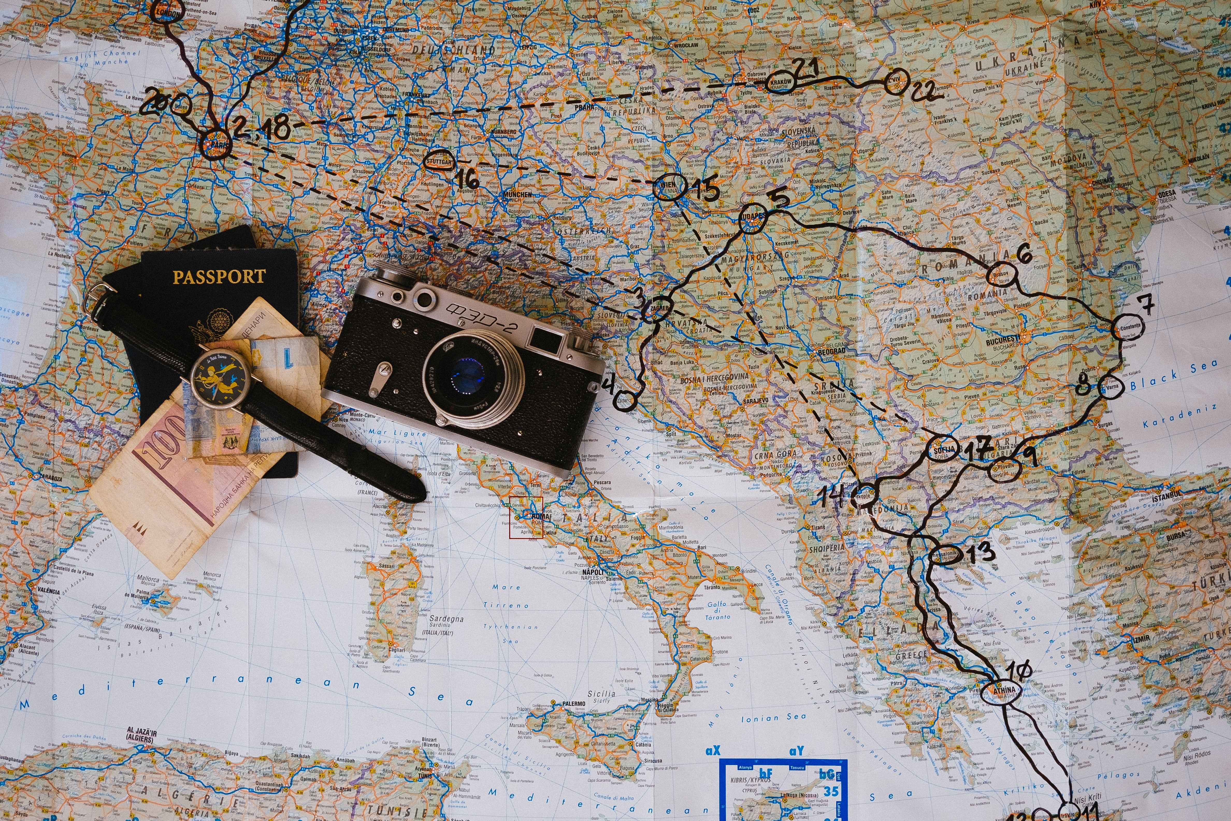 мапа подорожі