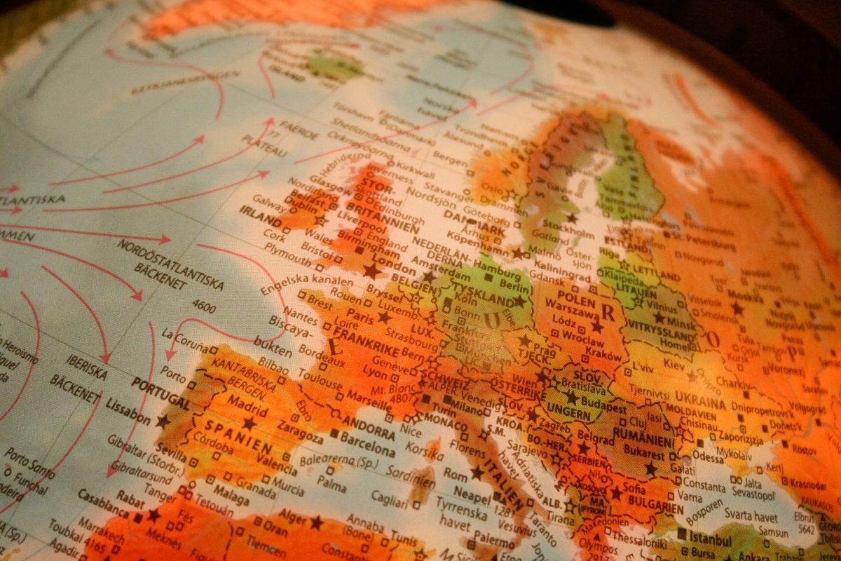 мапа світу