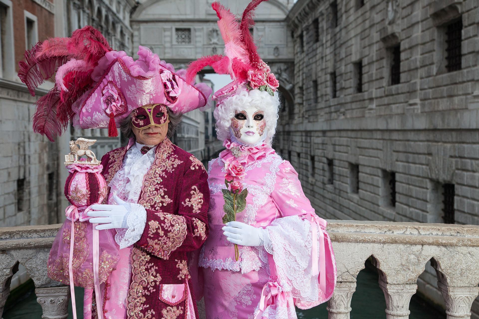 венеція карнал рожеві маски