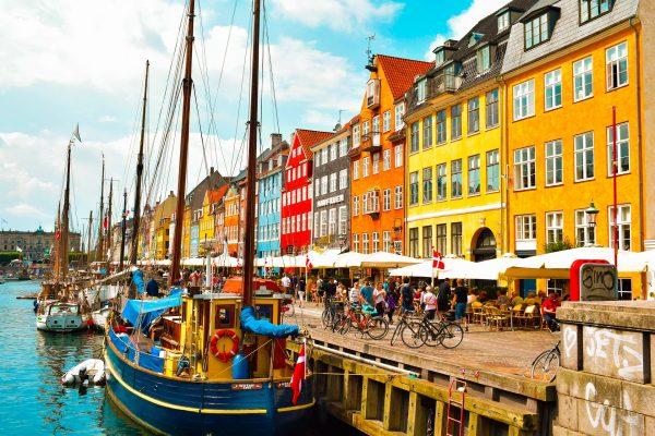 Данія Копенгаген місто набережна