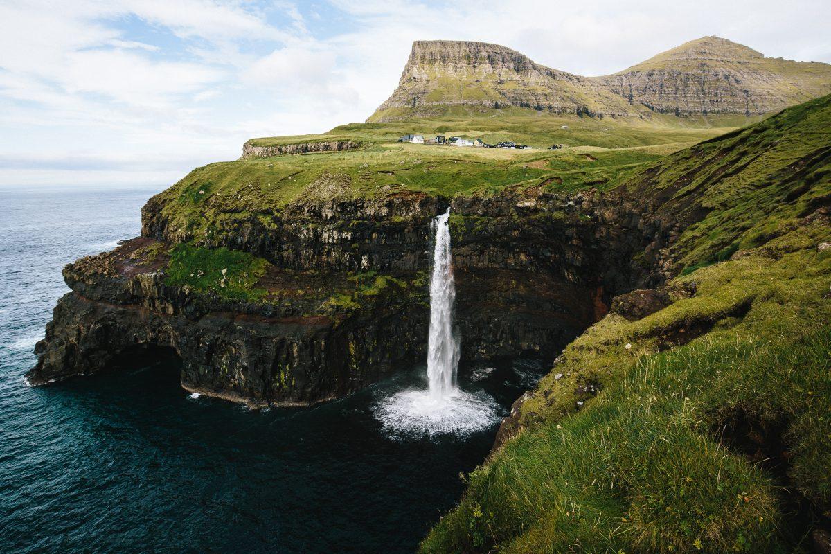 фарерські острови водоспад