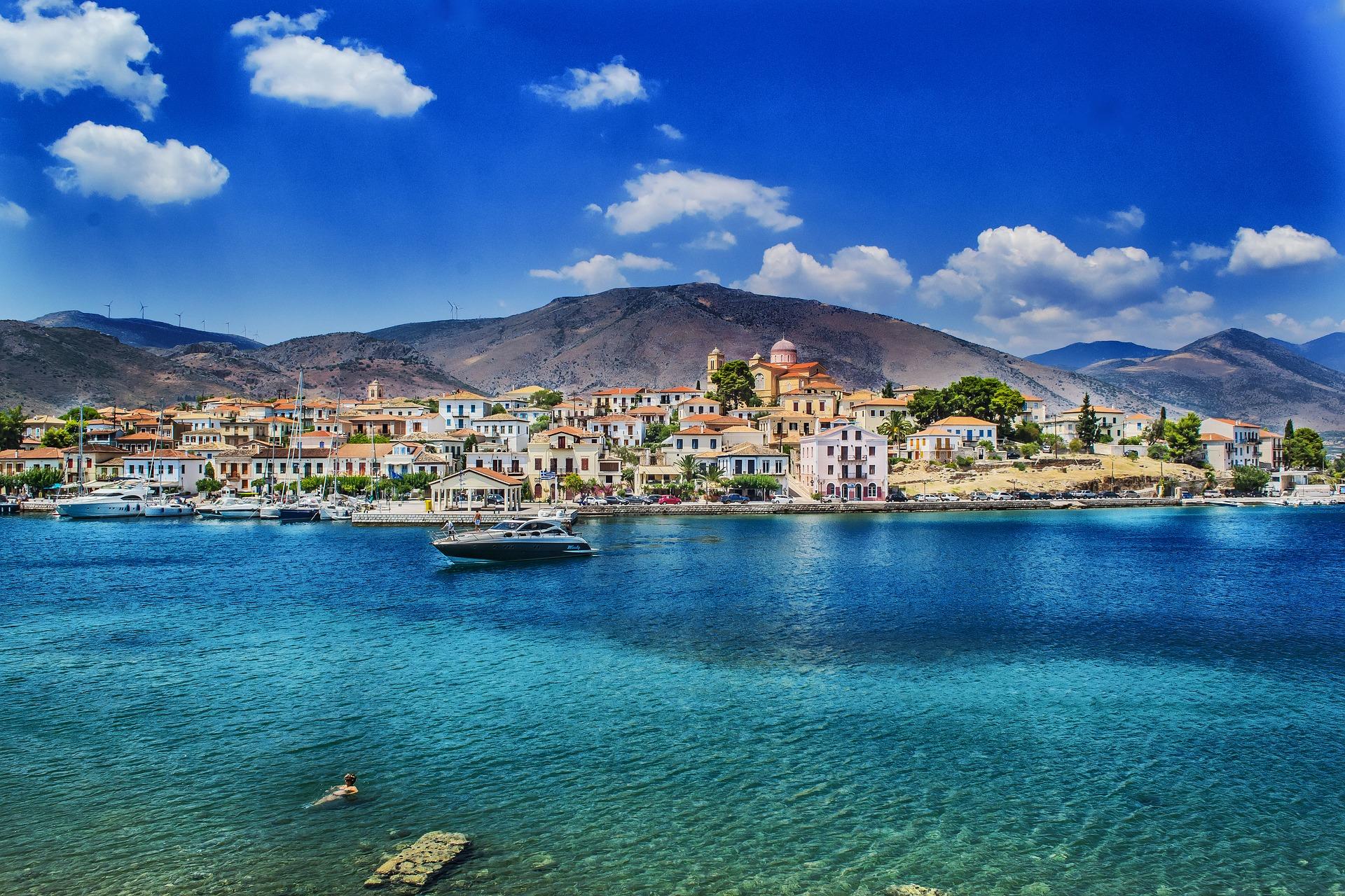 Греція море місто