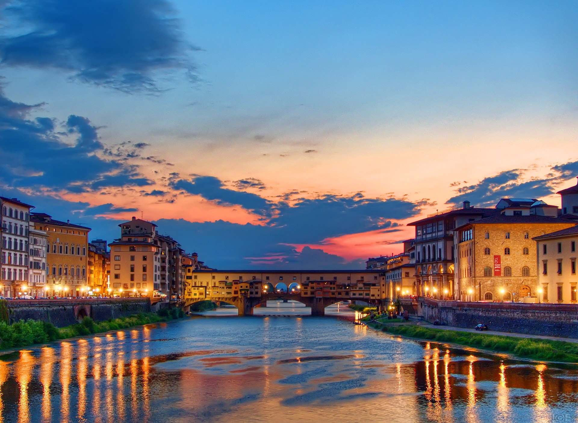 захід сонця у Флоренції
