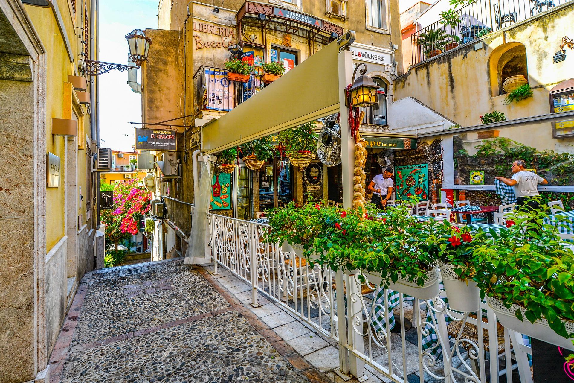Сицилія кафе у місті