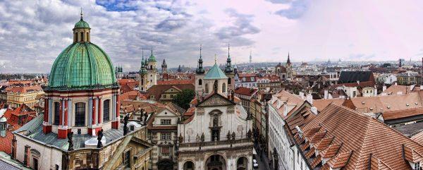 прага панорама центр міста дахи