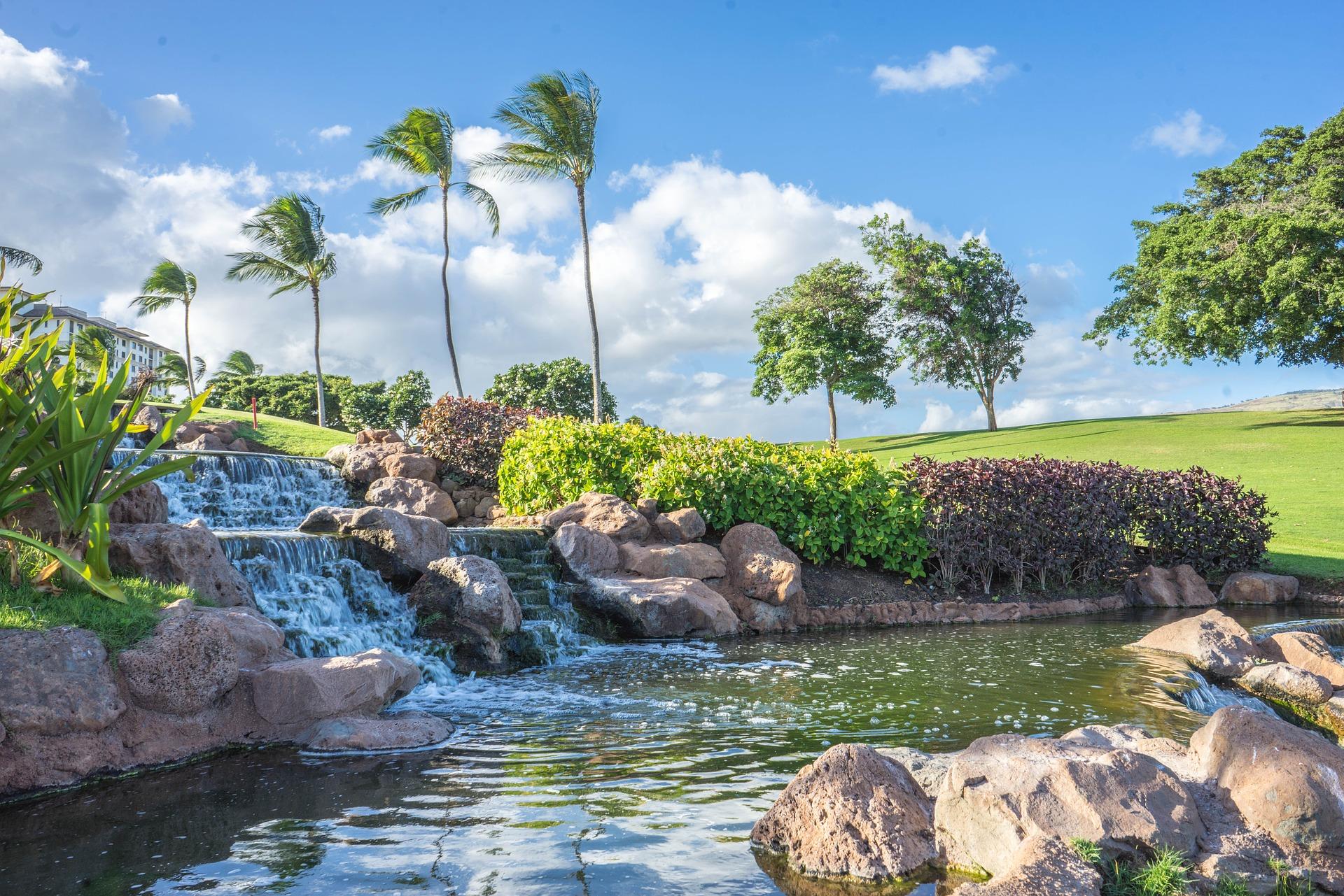 гаваї острів оаху водоспад