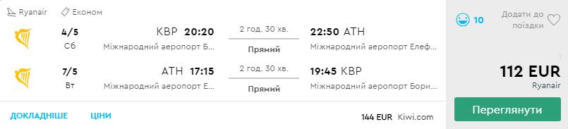 Київ - Афіни -Київ