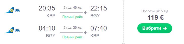 Київ - Мілан -Київ