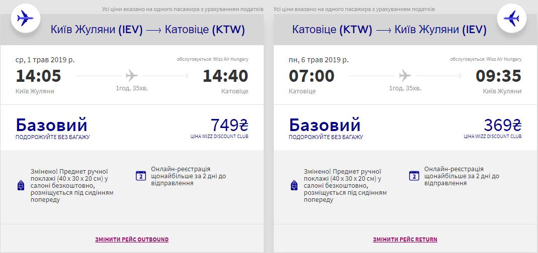Київ - Катовіце -Київ