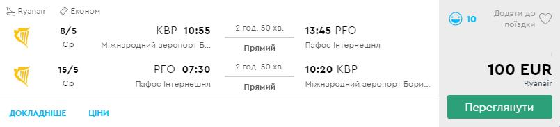 Київ - Пафос -Київ