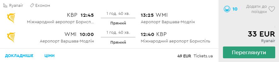 Київ - Варшава -Київ