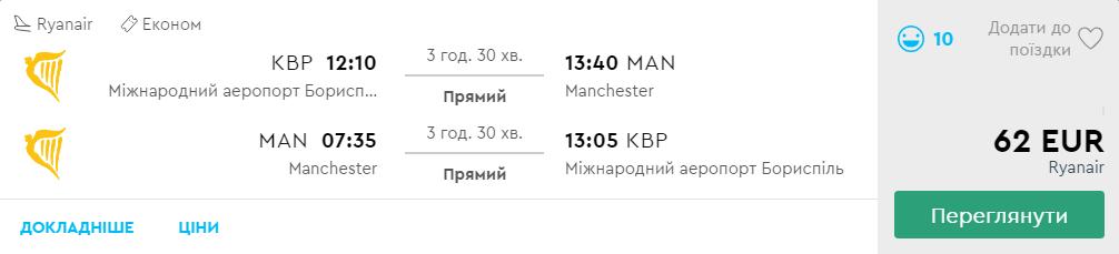 Київ - Манчестер -Київ