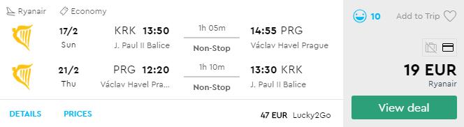 Краків - Прага -Краків