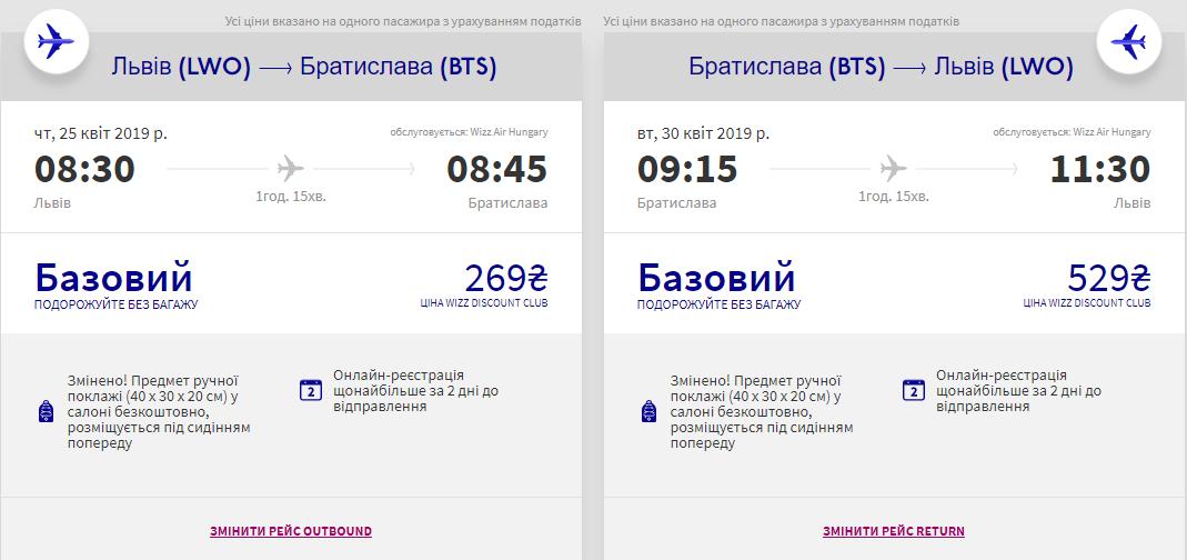 Львів - Братислава -Львів