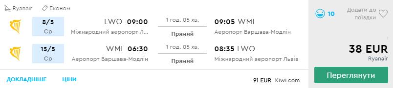 Львів - Варшава -Львів