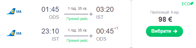 Одеса - Стамбул -Одеса