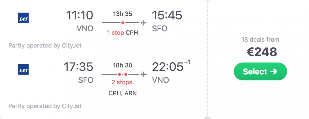 дешеві авіаквитки до сан-франциско