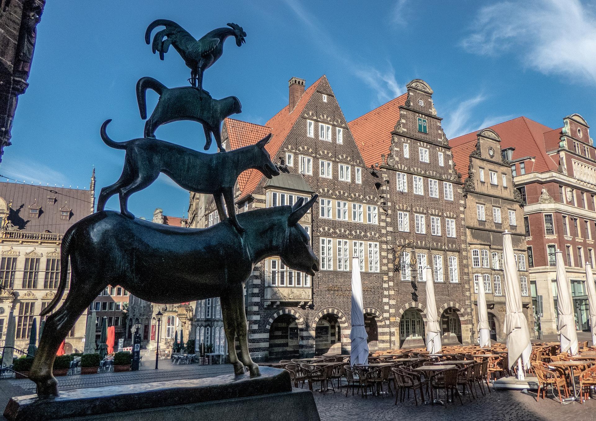 Німеччина Бремен пам'ятник музикантам
