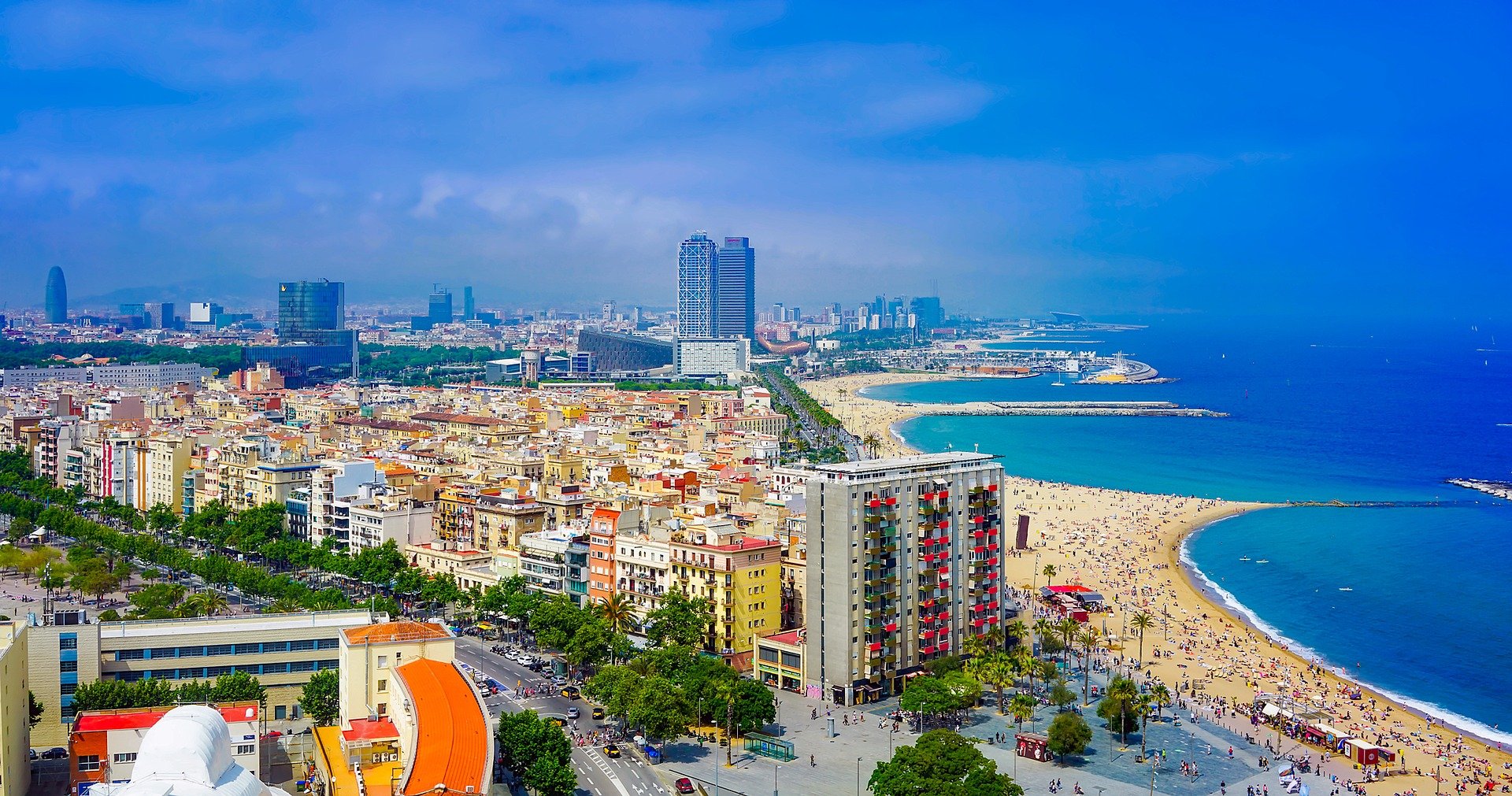 баселона пляж місто