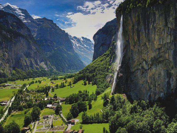 водоспад лаутенбруннен