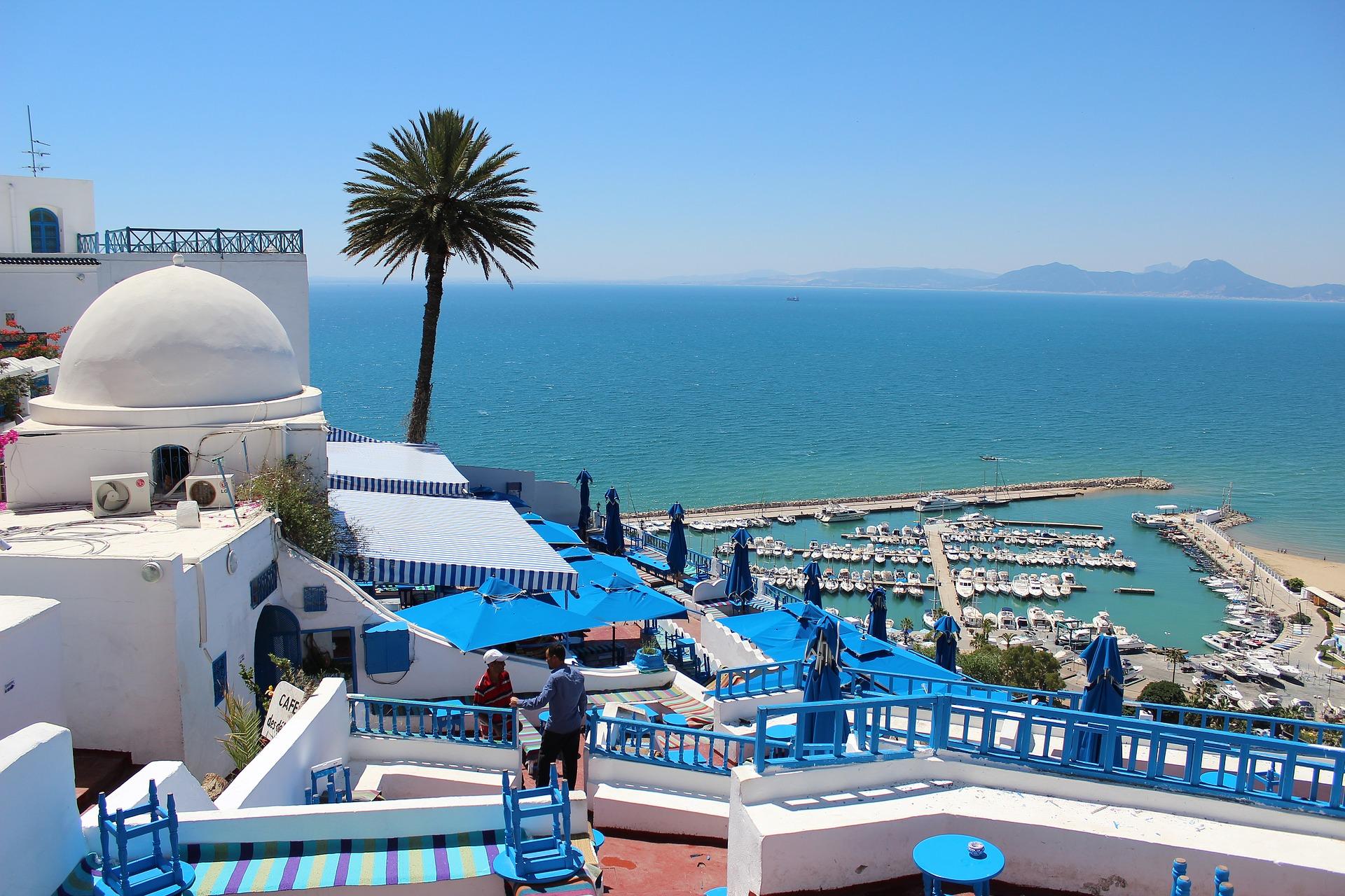 вид на море в Тунісі