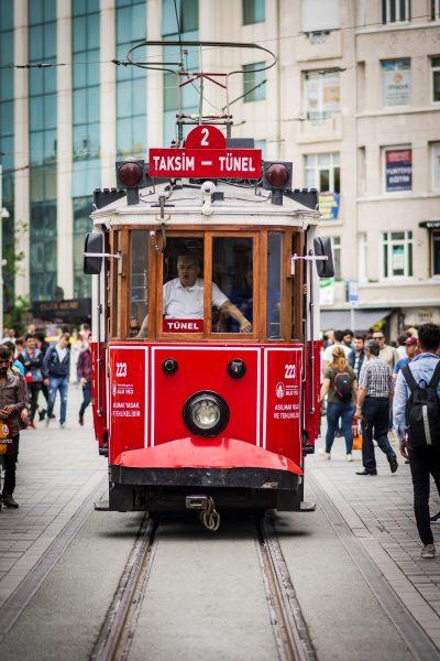стамбул трамвай таксим