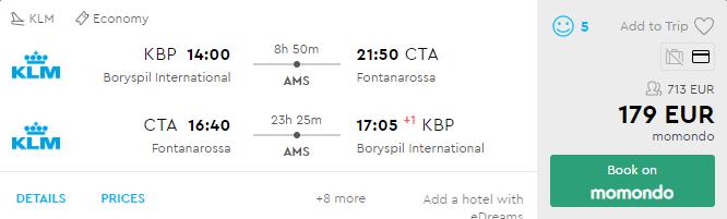 Київ - Катанія - Амстердам - Київ
