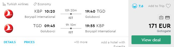Київ - Подгориця - Київ