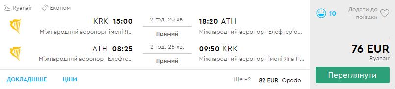 Краків - Афіни - Краків