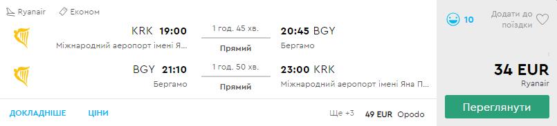 Краків - Мілан - Краків