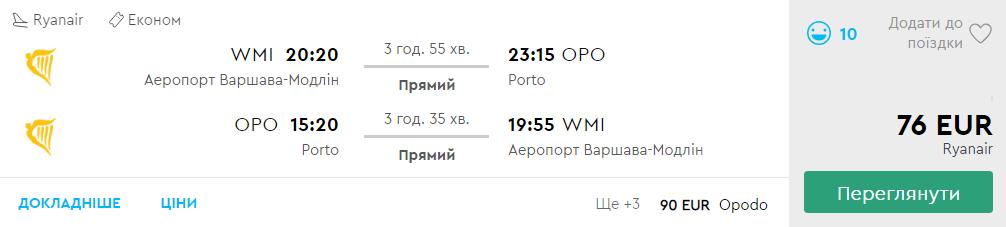 Варшава - Порту - Варшава