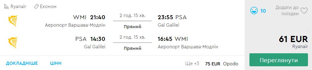 Варшава - Піза - Варшава