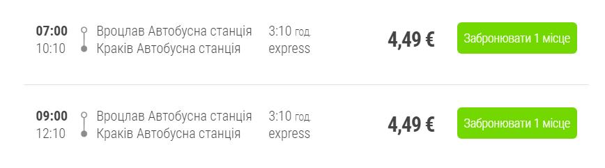 Вроцлав - Краків (автобус)