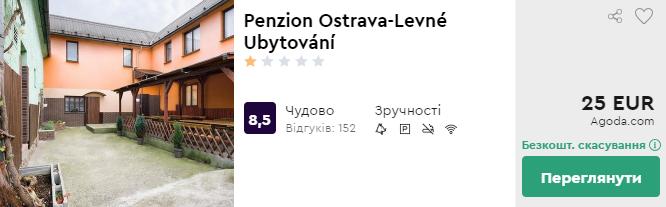 Penzion Ostrava-Levné Ubytování