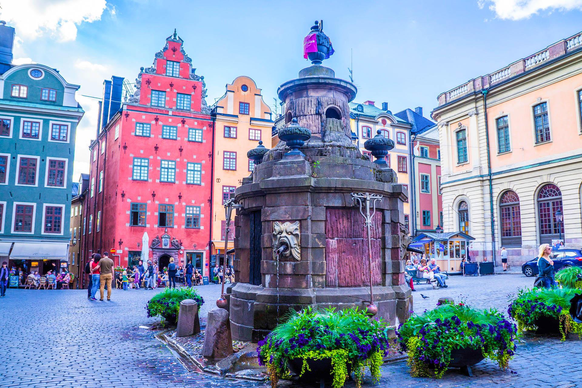 Швеція Стокгольм фонтан