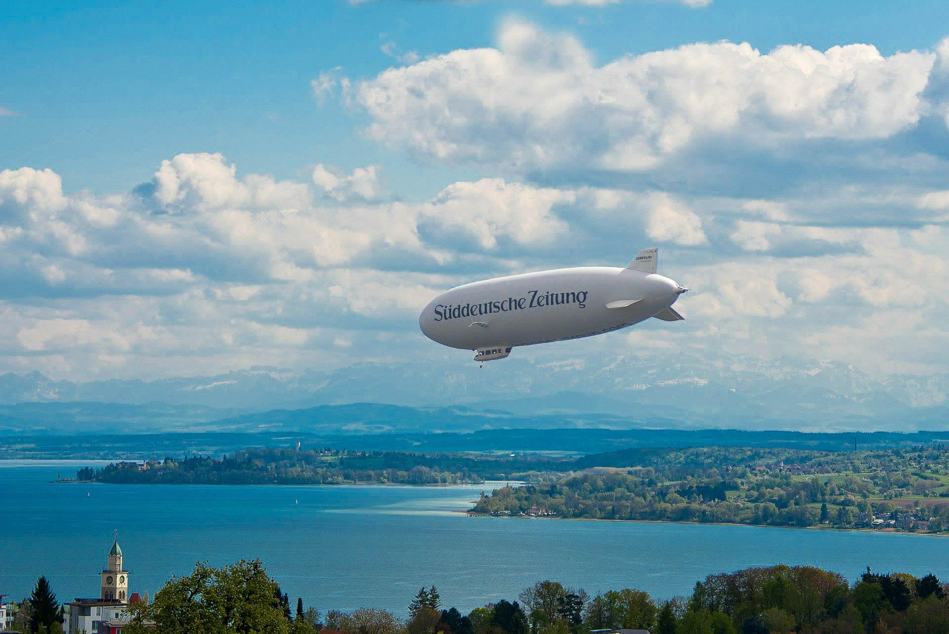 Німеччина Боденське озеро дирижабль