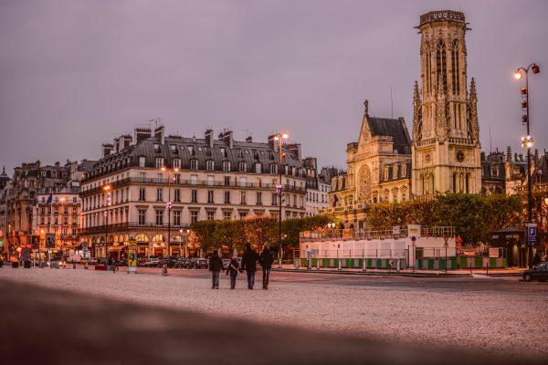 париж сутінки