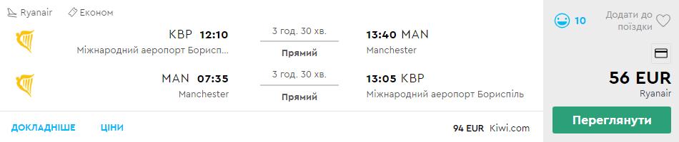 Київ - Манчестер - Київ