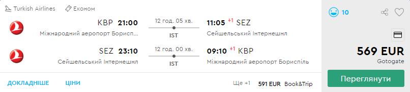 Київ – Сейшели – Київ