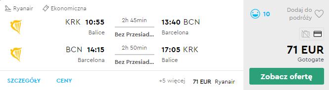 Краків - Барселона - Краків