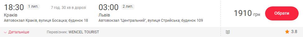 Краків - Львів (автобусом)