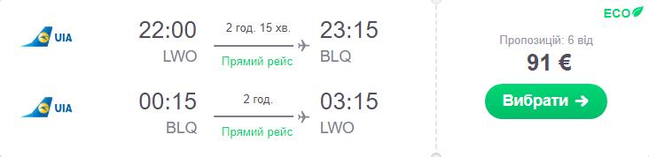 Львів - Болонья - Львів