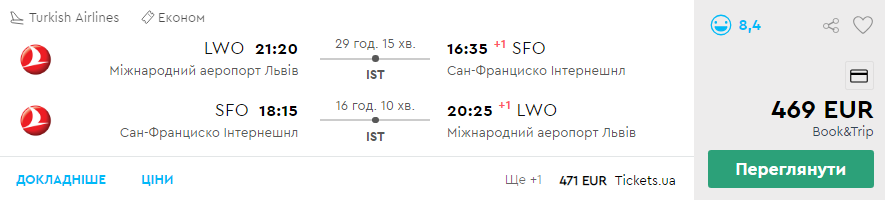 Львів - Сан-Франциско - Львів