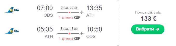 Одеса - Афіни - Одеса