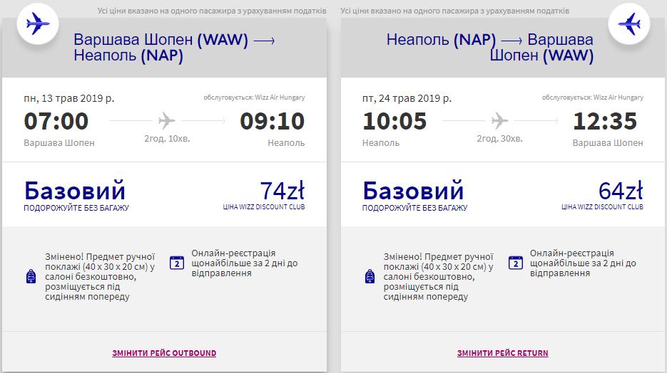 Варшава - Неаполь - Варшава