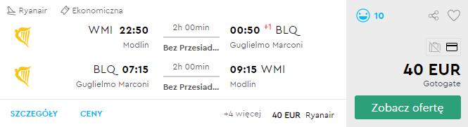 Варшава - Болонья - Варшава