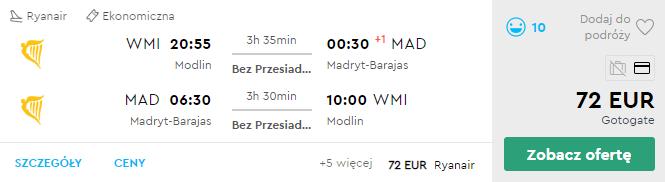 Варшава - Мадрид - Варшава