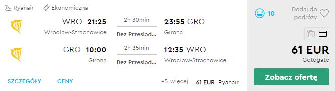 Вроцлав - Жирона - Вроцлав