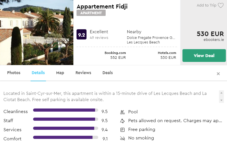 Appartement Fidji