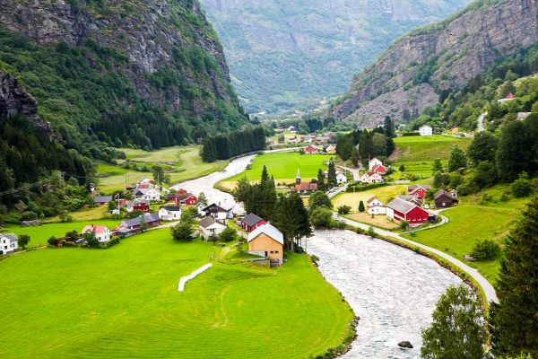 Норвегія село